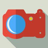 Modern flat design concept icon photo camera. Stock Photography