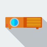 Modern flat design concept icon projector. Stock Photo