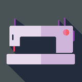 Modern flat design concept icon sewing machine. Royalty Free Stock Image