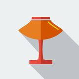 Modern flat design concept icon Table light lamp. Royalty Free Stock Images
