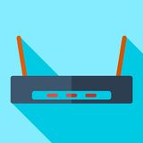 Modern flat design concept icon Wi-Fi router Royalty Free Stock Image
