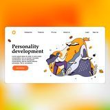 Modern flat design concept of Personality development Landing page template stock illustration