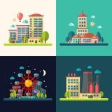 Modern flat design conceptual city illustrations Stock Image