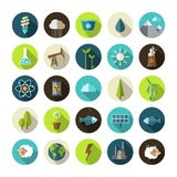 Modern flat design conceptual ecological icons Royalty Free Stock Images