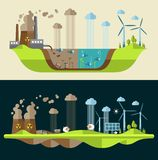 Modern flat design conceptual ecological Stock Images