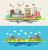 Modern flat design conceptual ecological Stock Photos