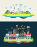 Modern flat design conceptual ecological Royalty Free Stock Image