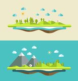 Modern flat design conceptual landscape Royalty Free Stock Photography