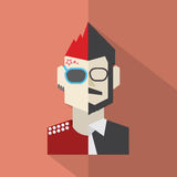 Modern Flat Design Conflict Character Man Icon Royalty Free Stock Image