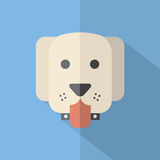 Modern Flat Design Dog Icon vector illustration