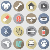 Modern Flat Design Dog Icons Set Stock Images
