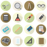 Modern Flat Design Education Icons Royalty Free Stock Images