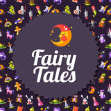 Modern flat design fairy tales and magic flyer Royalty Free Stock Photography