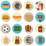 Modern Flat Design Germany Icons Set. Illustration Stock Image
