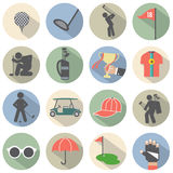 Modern Flat Design Golf Icon Set Stock Photography