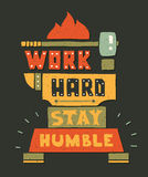 Modern flat design hipster illustration with quote Stock Photo