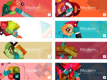 Modern flat design infographic banners Stock Photo