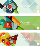 Modern flat design infographic banners Royalty Free Stock Photo