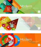 Modern flat design infographic banners Royalty Free Stock Photos