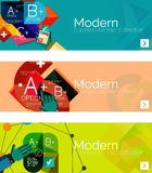 Modern flat design infographic banners Stock Photos