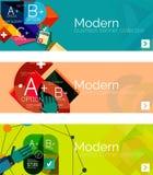 Modern flat design infographic banners Stock Photos