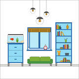 Modern flat design of Interior Royalty Free Stock Images