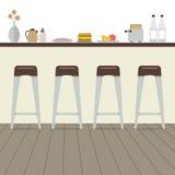 Modern Flat Design Kitchen Interior Stock Photo