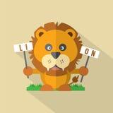 Modern Flat Design Lion Royalty Free Stock Photos