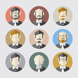 Modern Flat Design Men Icon Set Royalty Free Stock Photography