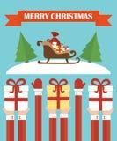 Modern flat design,Merry Christmas Stock Photography