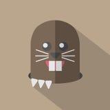 Modern Flat Design Mole Icon Royalty Free Stock Image