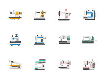 Modern flat design sewing equipment icons Stock Photo