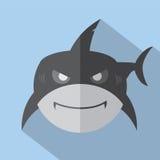 Modern Flat Design Shark Icon. Stock Photos
