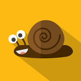 Modern Flat Design Snail Stock Photography