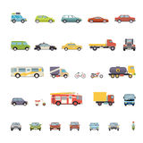 Modern Flat Design Transport Symbols Stylish Retro Royalty Free Stock Photo