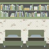 Modern Flat Design Twin Bedroom Stock Image