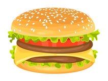 Modern flat design vector illustration of big hamburger Stock Photos