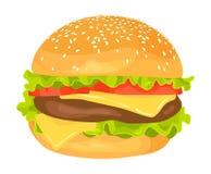 Modern flat design vector illustration of big hamburger Royalty Free Stock Photos