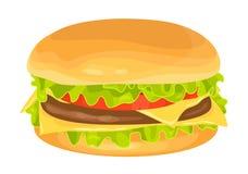 Modern flat design vector illustration of big hamburger Royalty Free Stock Image
