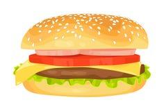Modern flat design vector illustration of big hamburger Royalty Free Stock Photo