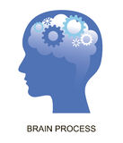 Modern flat design vector illustration, concept of brain and creative process. For graphic and web design Stock Photos