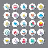 Modern Flat Design Website Icons Set. Modern Flat Design Website Vector Icons Set Royalty Free Stock Photography