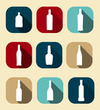 Modern Flat Dink Icon Set for Web and Mobile Stock Image