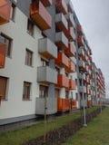 Modern flat houses Royalty Free Stock Image