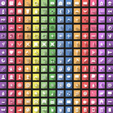 Modern flat icon set with long shadow for web Royalty Free Stock Photo