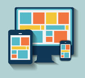 Modern Flat Icon Set for Web and Mobile Stock Photo