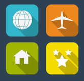Modern Flat Icon Set for Web and Mobile. Application. This is file of EPS10 format Stock Photography