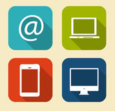 Modern Flat Icon Set for Web and Mobile Stock Image