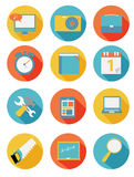 Modern Flat Icon Set for Web and Mobile Royalty Free Stock Photos