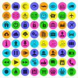 Modern flat icon set of web, multimedia and business icons on a. White background Royalty Free Stock Photography